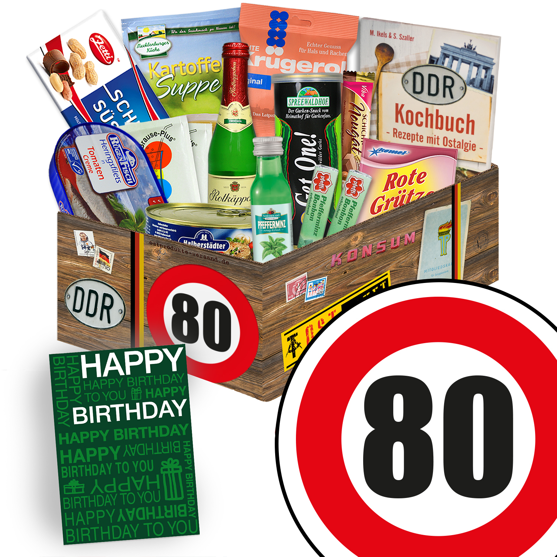 Geschenke zum 80. Geburtstag | Ossi Spezialitäten